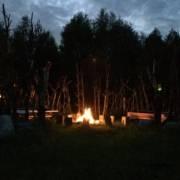 Reiseblogger Glamping Masuren Lagerfeuer Glendoria