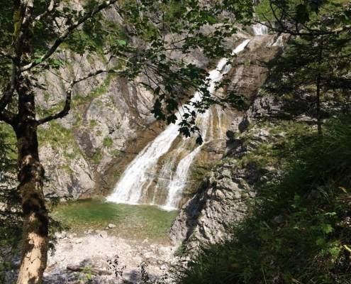 Jachenau Blick Wasserfall