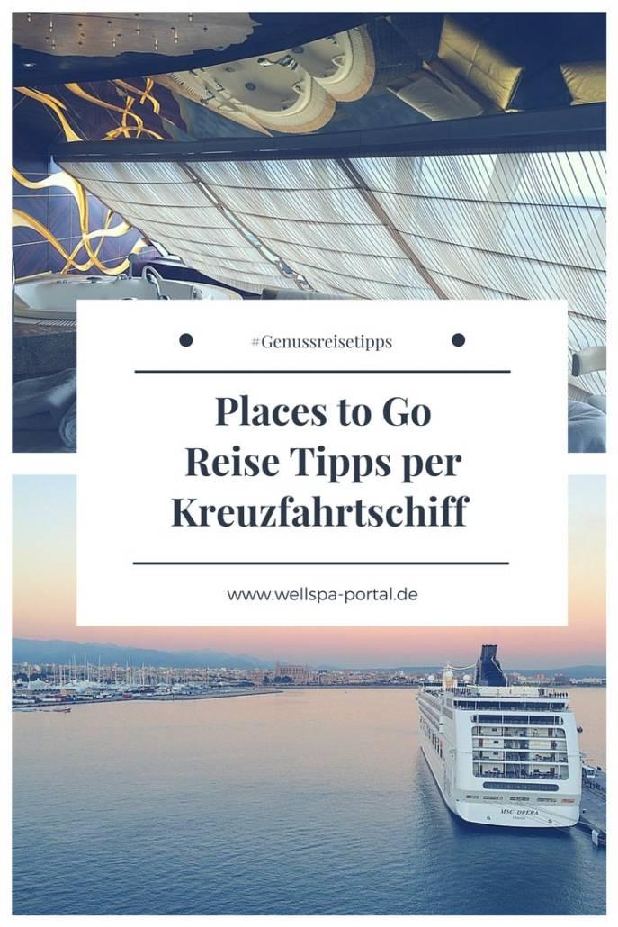 Places to go. Wohin soll der nächste Urlaub gehen? Wie wäre es mit Reise Tipps per Kreuzfahrt Schiff. Ob auf dem Meer oder als Flusskreuzfahrt. Entspannung ist sicher. #Genussreisetipps #Urlaub #Travel #Kreuzfahrt #Flusskreuzfahrt #Auszeit #Reise #Tipps