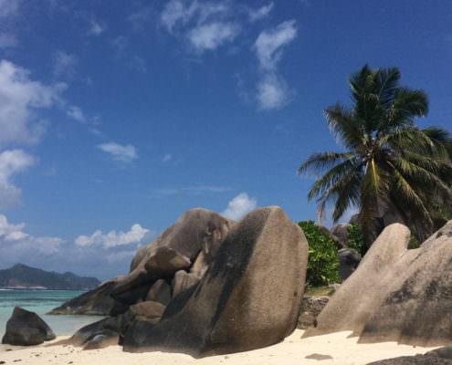 Seychellen Strand La Digue Source d´Argent