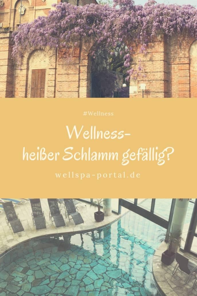 Wellness- heißer Schlamm auf Reisen im Urlaub nach Abano. Wellness und Ausziet in Italien. #Wellnes #Wellnesshotel #Auszeit #Italien #Urlaub #Gesundheit