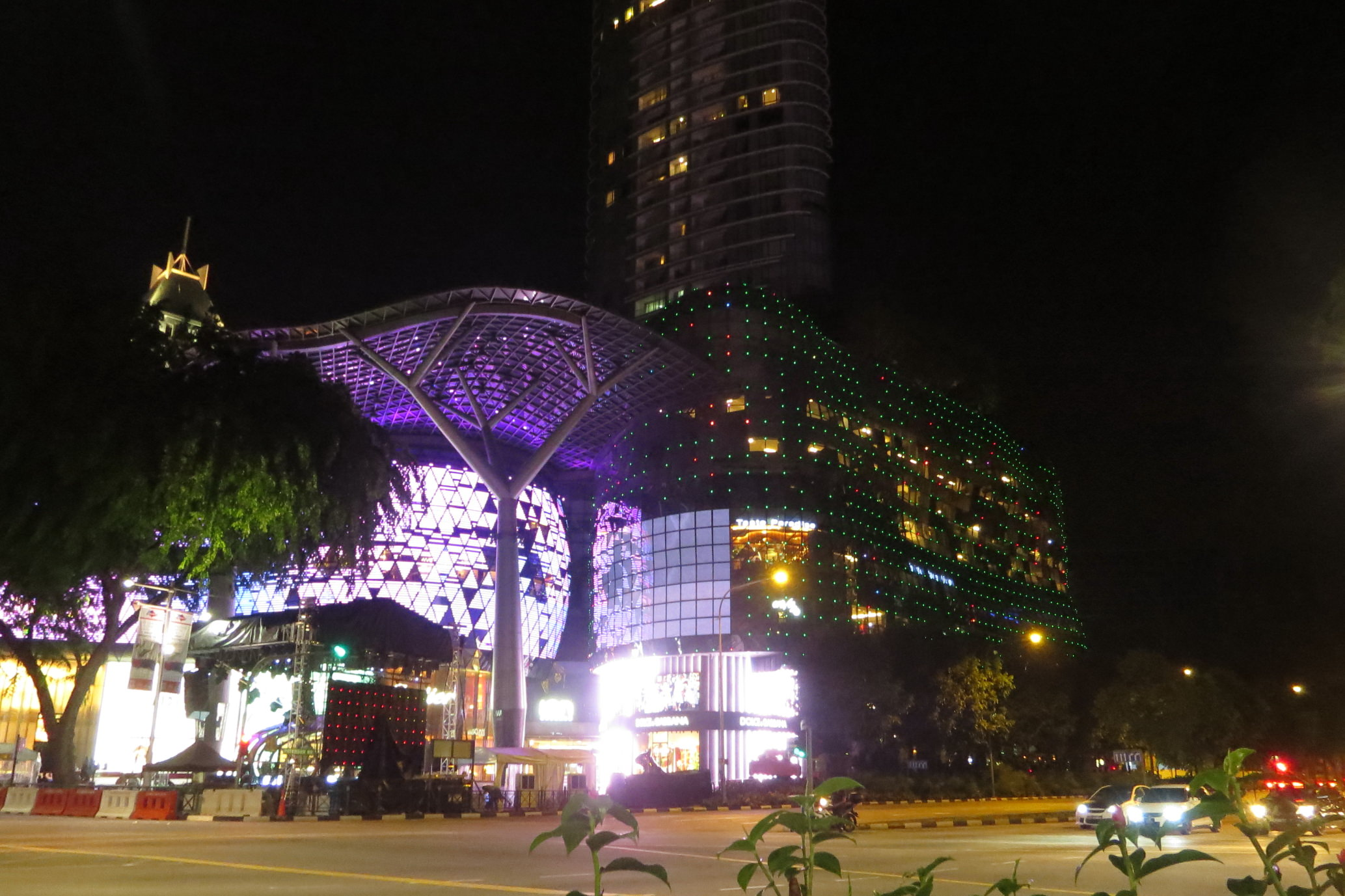 Orchard Road by night in Singapore