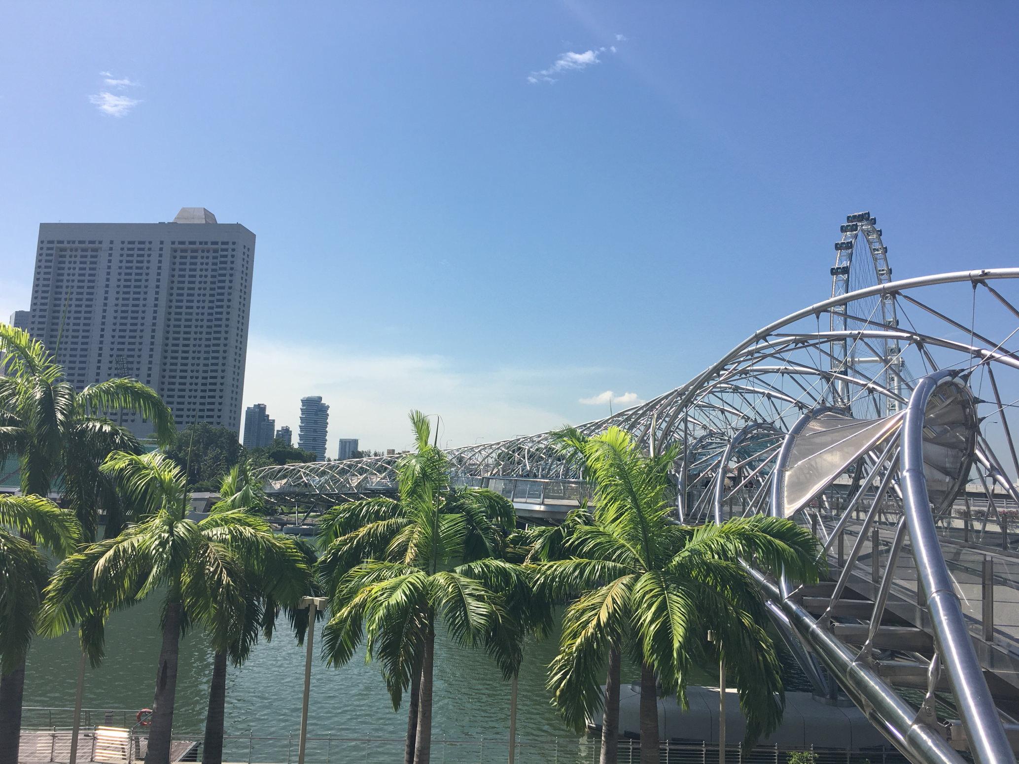 Singapore mit Helix-Brücke