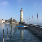 Eis im Lindauer Hafen am Bodensee