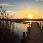 Seenliebe Starnberger See Sonnenuntergang Percha