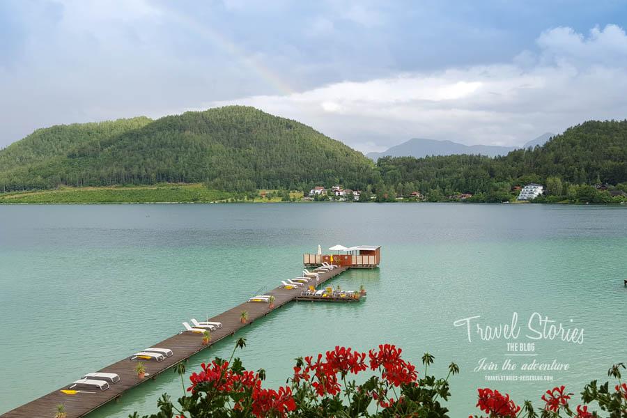 Klopeiner See Blick vom Hotel Sonne