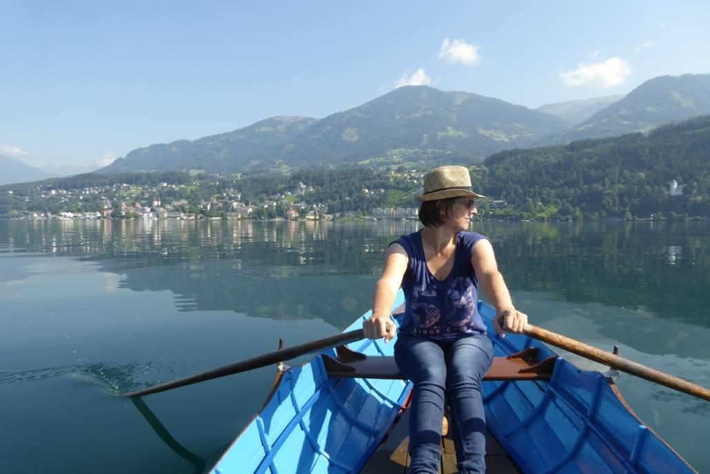Die Reisebloggerin auf dem Millstätter SeeDie Reisebloggerin auf dem Millstätter See