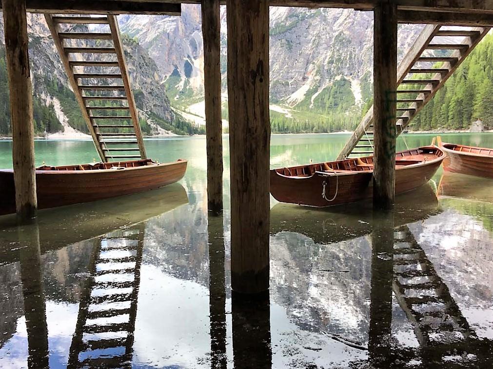 Pragser Wildsee im Pustertal in Südtirol