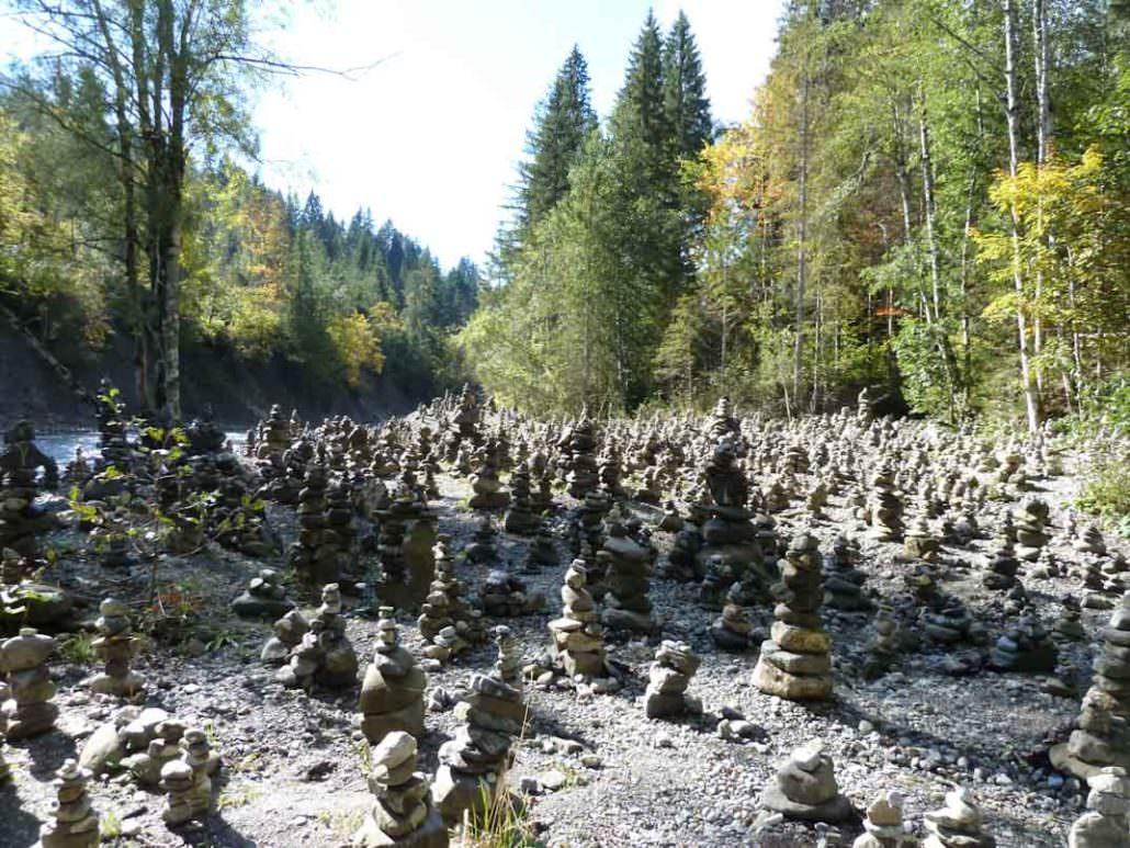 Steinmännchen in der Breitachklamm