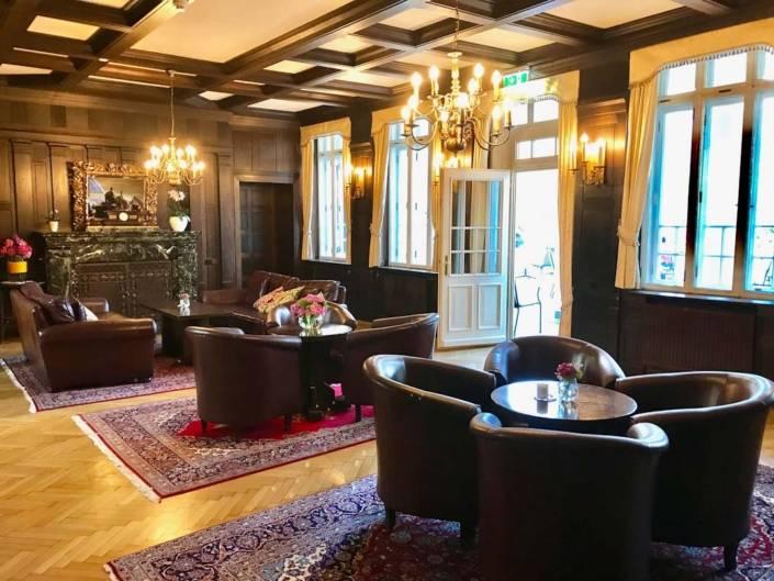 Billroth Der Salon des historischen Parkhotels Billroth in St. Gilgen
