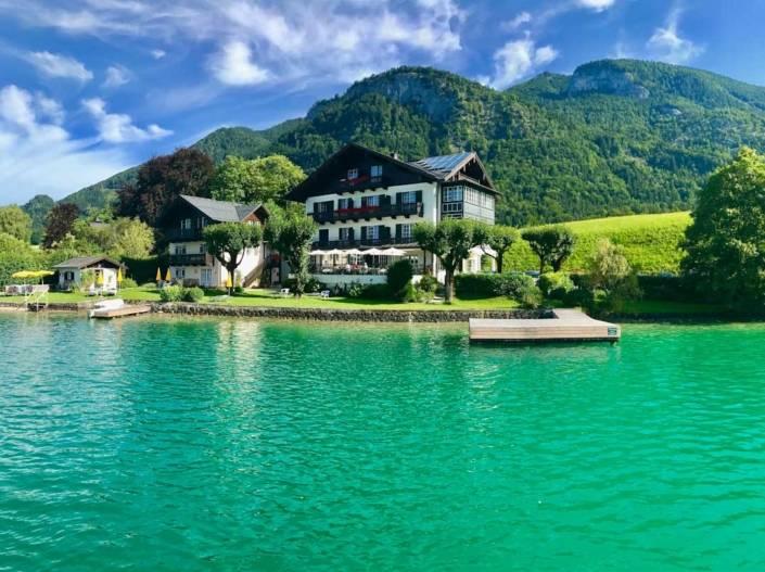 Der Hotel Gasthof Falkenstein ist einer der sonnigsten Plätze am See