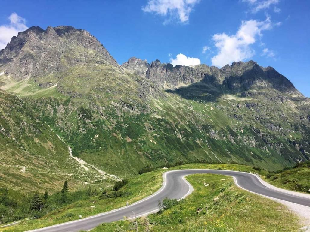 Silvretta Hochalpenstraße, Urlaub Silvretta Montafon. Auszeit auf dem Berg Vorarlberg Österreich