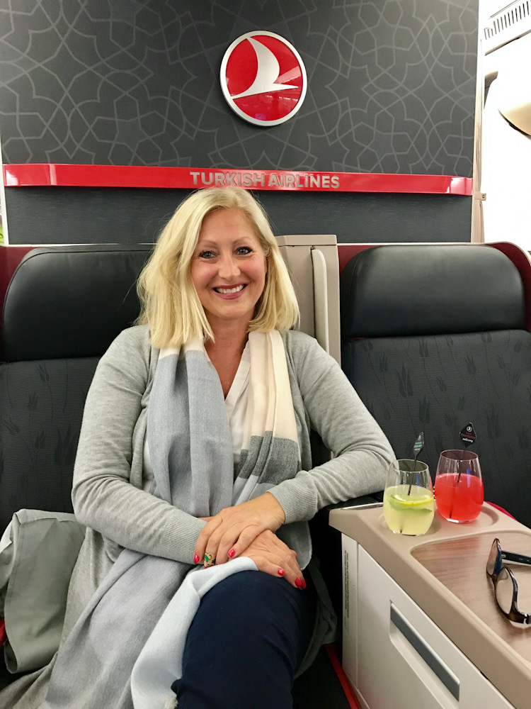 So kann eine Reise beginnen, in der Business Class von Turkish Airlines