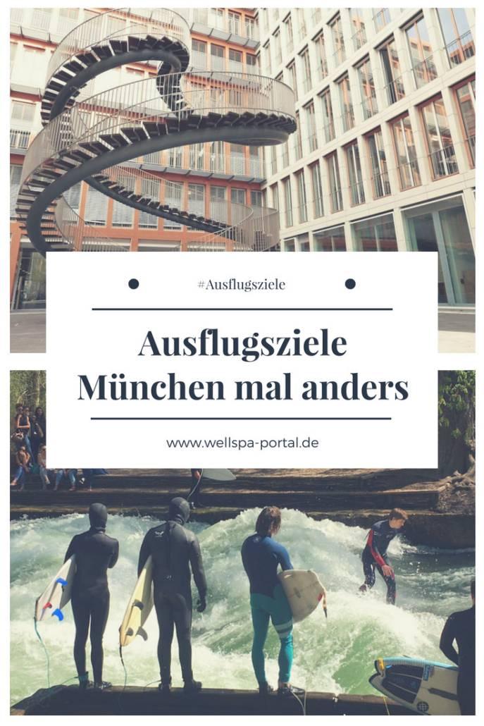 #Ausflugsziele in München mal anders. Weg von den Tourismus Pfaden für Reisen in die bayrische Hauptstadt. #Städtereise mit Eisbach, botanischem Garten, ewiger Treppe und #Biergarten. #Citytrip mit #Ausflugsideen #München #Bayern