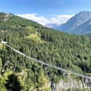 Die längste Fussgänger Hängebrücke der Welt. Ausflugsziel highline 179 an der Burgenwelt Ehrenberg bei Reutte in Tirol. #Auszeit vom Alltag, #Wandern für #Genussabenteurer